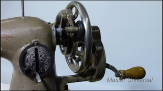 Ручной привод на Подольской швейной машине. Видео № 483.