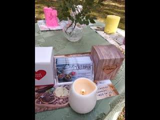 Массаж с массажной свечей