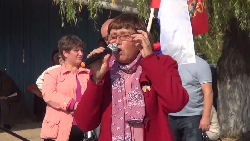 Митинг в Верхнем Мамоне против строительства мегасвинокомплексов на Придонской з