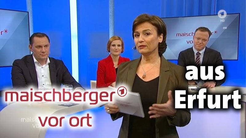 Maischberger vor ort aus Erfurt mit Katja Kipping Mario Voigt und Tino Chrupalla 11 3 2020