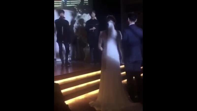A.C.E singing at a wedding