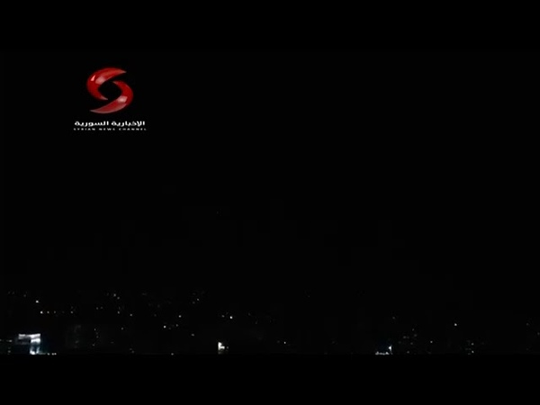 SYRIAN AIR DEFENSE CONFRONTS HOSTILE TARGETS IN DAMASCUS SKY