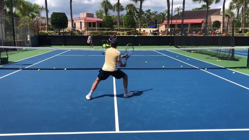 Advanced Tennis Volley Drills 🚨 Professional tennis training with coach Brian Dabul