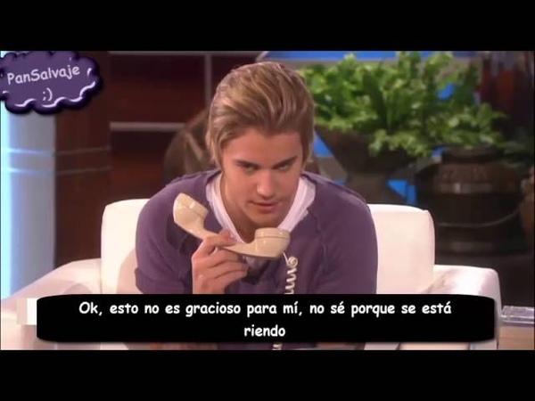 Justin Bieber Interview on The Ellen Show 16 02 2015 Traducido al español