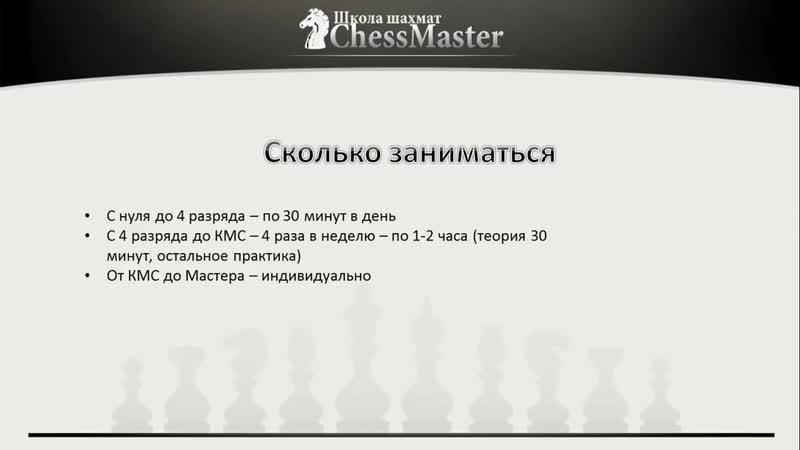 CLG Урок 1 Как правильно заниматься шахматами