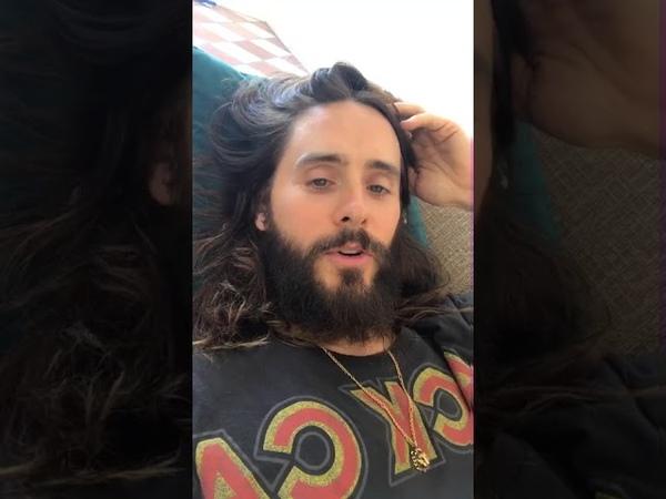 Jared Leto Instagram live from April 9,2018