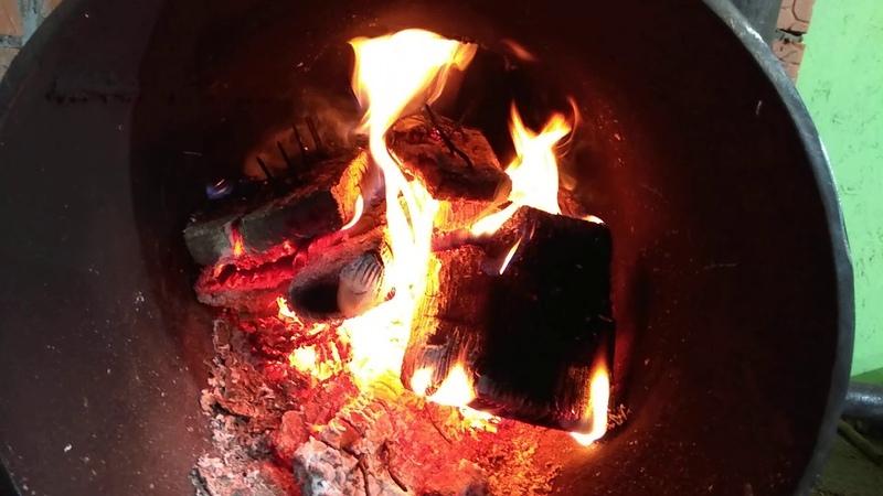 Печка длительного горения. Испытание