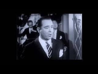 """Alberto Castillo, """"Ninguna"""", película """"El tango vuelve a París"""", 1948."""