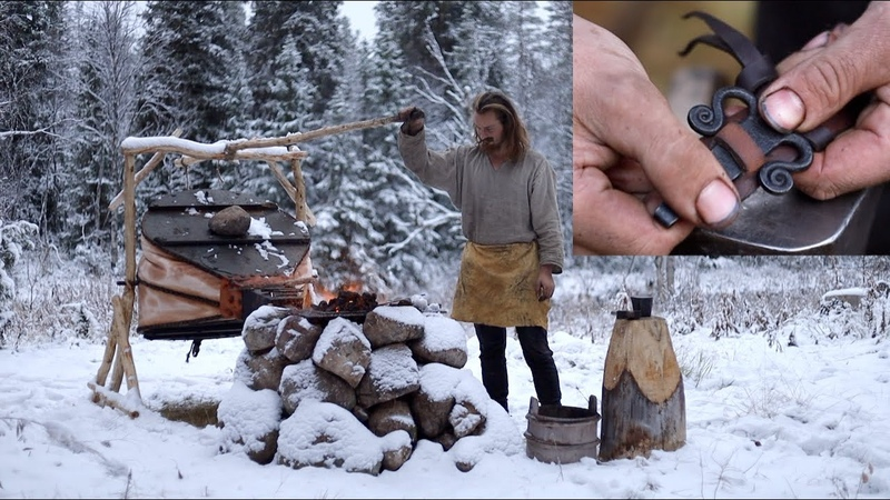 Making a leather belt - blacksmithing