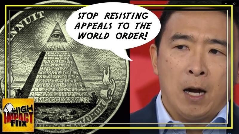 WTF! Andrew Yang BLATANTLY Pushes the NEW WORLD ORDER During 5th Debate