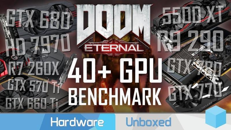 Doom Eternal Used GPU Guide GeForce 600 700 900 10 Radeon HD 7000 200 300 400 series