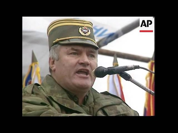 Bosnia Gen Ratko Mladic Addresses Troops