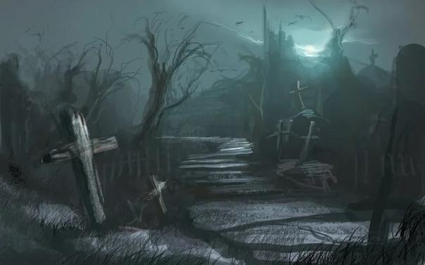 Жуткое приключение на ночном кладбище