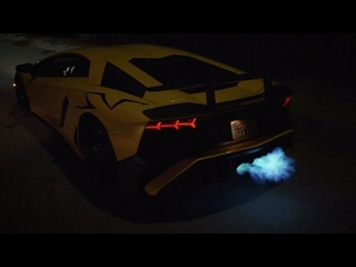 Aventador SV insane launches/flames! HEADPHONE USERS BEWARE