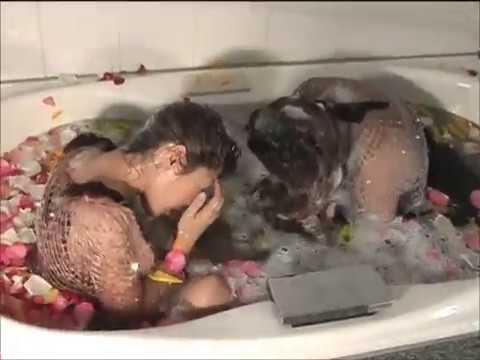豪華フラワーバスで洗髪シャンプーしてみたflower bath shampoo