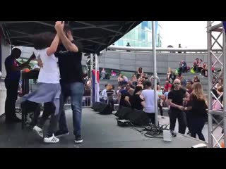 Nikola medic & danielle satsias — cuban salsa at the scoop 2019