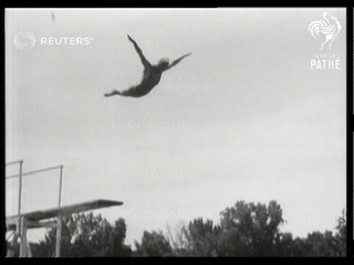 Helen Crlenkovich wins a diving championship in the USA (1939)