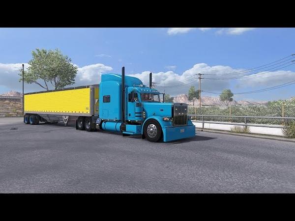 ATS American Truck Simulator 1 37 beta Peterbilt truck Grain transportation to Ogden
