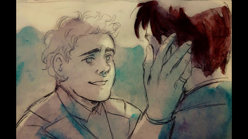 Good Omens animatic - Scarboroughfair (fic: Pray for us, Icarus)