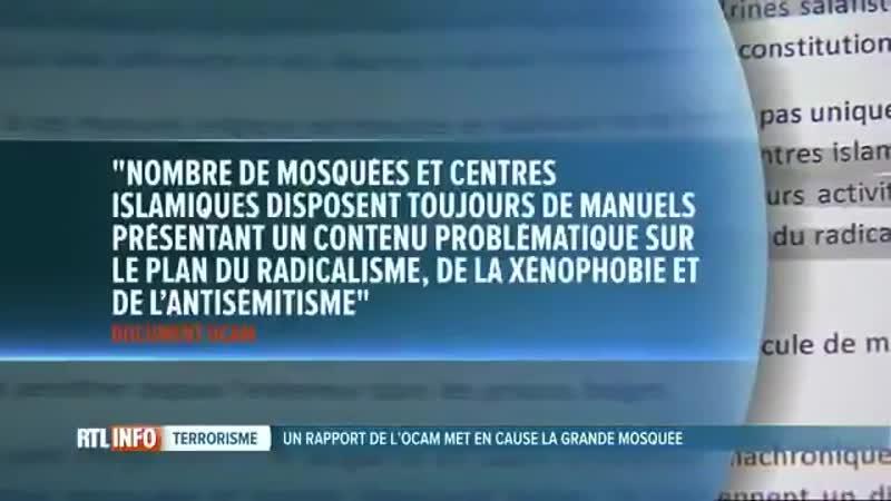 La grande mosquée de Bruxelles enseigne la haine des non-musulmans
