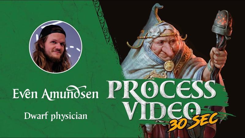 Digital Speed Paint: Dwarf Physician | TEGN | Fantasy Art