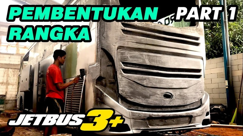 MODIFIKASI BUS LAWAS JADI JETBUS3 KALINGGA JAYA PART1