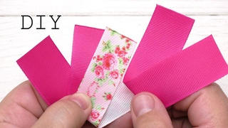 How easy it is to make these flowers  Flower from Grosgrain ribbon  Decorations