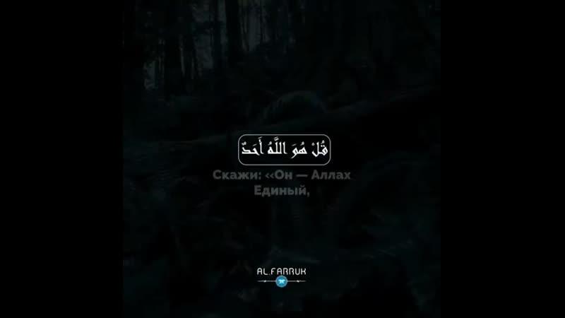 Reciter: Omar Hisham Surah: «al-Ikhlas»