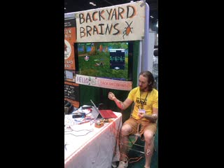 Backyard brains using electrical feedback from the body to kill goldshire boars