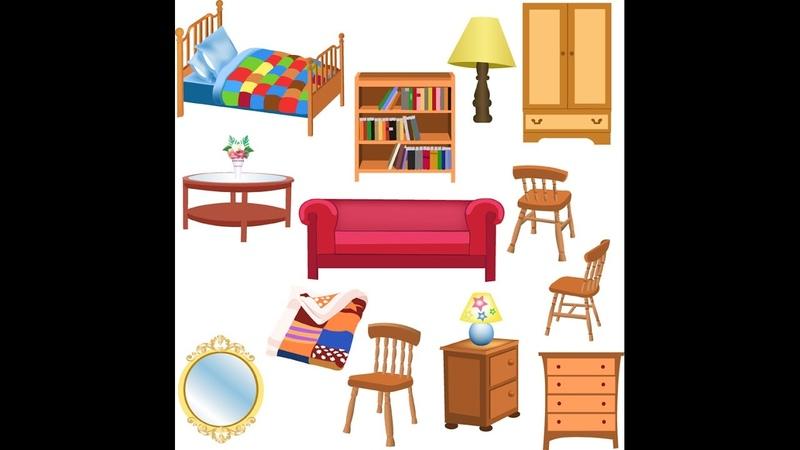 Английский язык детям Учим мебель Furniture English for kids Learn furniture