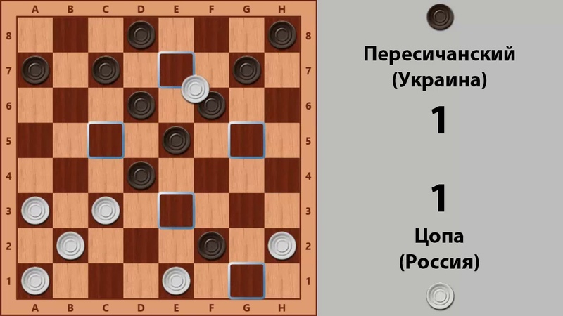 Цопа - Пересичанский. Чемпионат Мира по Русским шашкам 1994