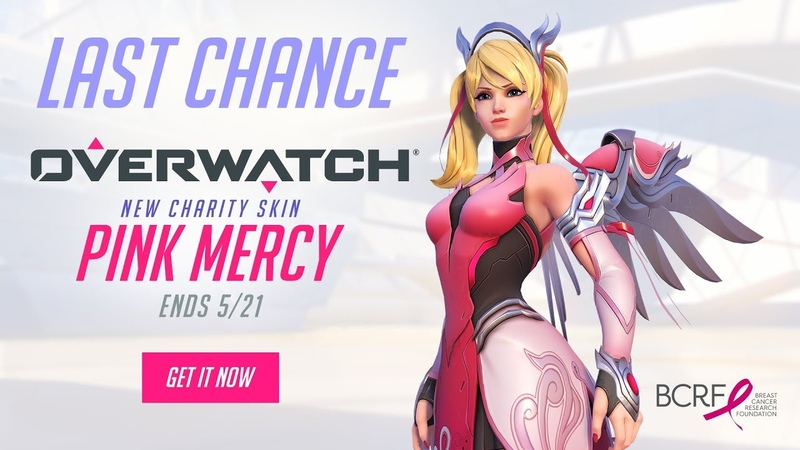 NOW AVAILABLE Pink Mercy Support BCRF Overwatch