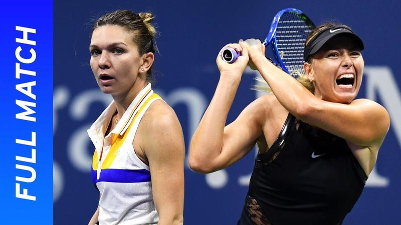 Maria Sharapova's stunning Grand Slam return vs Simona Halep US Open 2017 Round One