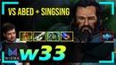 W33 Kunkka MID vs Abed TA SingSing Snapfire Dota 2 Pro MMR Gameplay 6