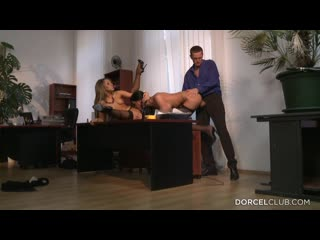 Aleska Diamond get 3some sex with her boss and secretery [Blonde, Brunette, High Heels, Threesome, Group Sex, Cheating, Condom]