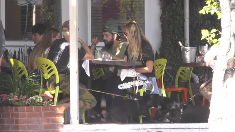 Kaulitz Twins, Heidi Klum and her Daughter at Fred Segal Restaurant - 13.09.2019