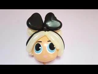 Кукла ЛОЛ (голова) из шариков