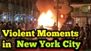 Protests have turned violent in the Union Square area of Manhattan, New York.