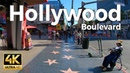 Los Angeles California Walking Tour Hollywood Boulevard 4k Ultra HD 60fps