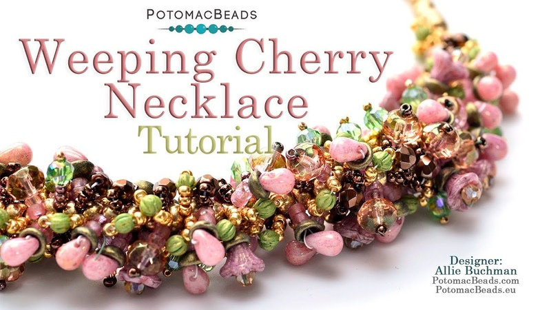 Weeping Cherry Necklace - Jewelry Making Tutorial by PotomacBeads