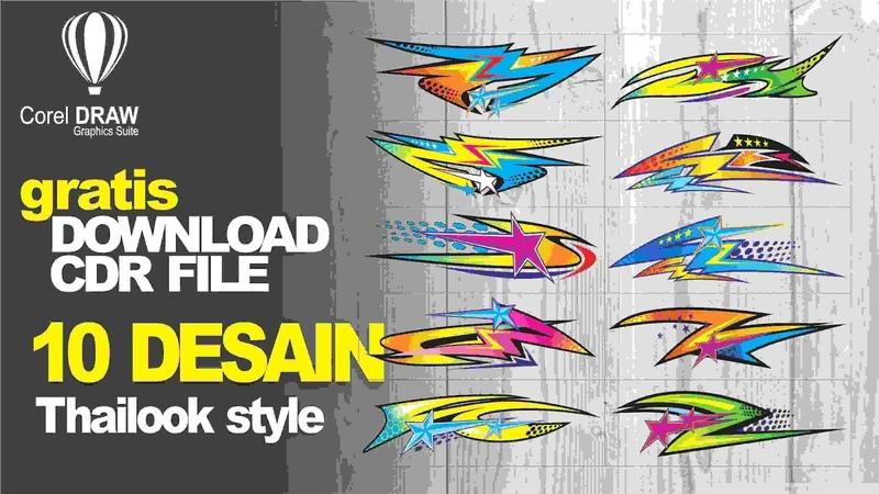 10 desain thai look style - gratis download file template cdr corel draw