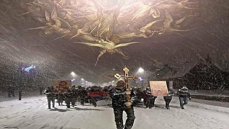 Массовые протесты в Черногории Защита Сербской Православной Церкви
