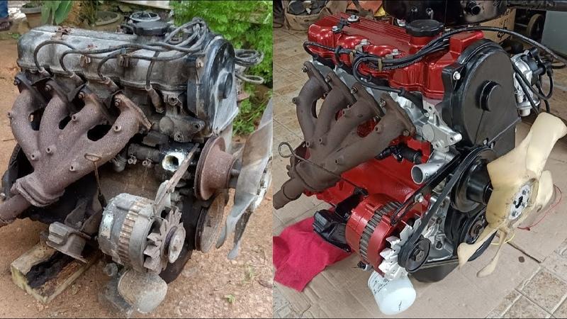 Mitsubishi Lancer Engine Full Restoration 1978