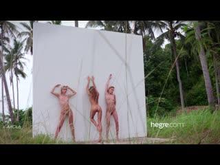 [Hegre-Art] Ariel, Marika & Melena Maria - Naked Tropical Trio