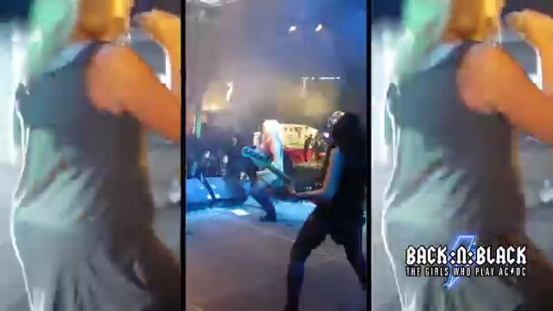 Thunderstruck LIVE Pro shot - BACK_N_BLACK