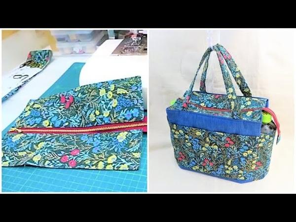 後付けファスナー口布の作り方 トートバッグにファスナー口布を縫い付ける方法 How to attach a retrofit zipper