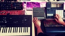 ES23 - just a little jam (Korg Minilogue XD Behringer Model D Maschine MK3 Novation LaunchcontrolXL