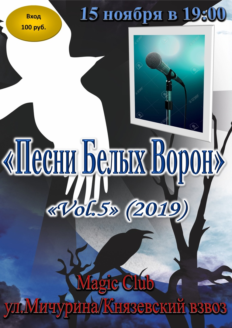 Афиша Саратов 15/11 - «Песни Белых Ворон» 2019. VOL.4