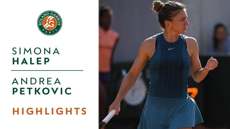 Simona Halep vs Andrea Petkovic Round 3 Highlights I Roland Garros 2018