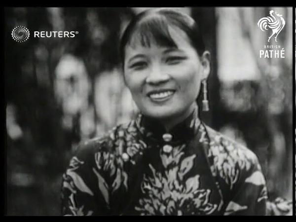 CHINA Chiang Kai shek with his wife following release 1937